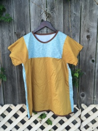 Chasing Lilac // Blue and Mustard Tunic // Chasing Lilac Hand Made Clothing