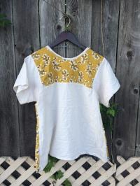 Chasing Lilac // Mustard and Oatmeal Shirt // Chasing Lilac Hand Made Clothing
