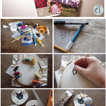 DIY Embroidered Button Magnets / Coffee Shop Craft // www.ChasingLilac.com