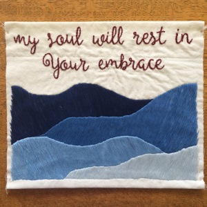 my soul will rest in your embrace _ hand embroidery _ Chasing Lilac Hand Embroidery