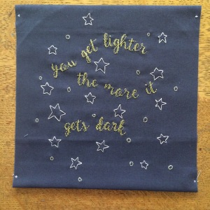 sky full of stars _ hand embroidery _ Chasing Lilac Hand Embroidery
