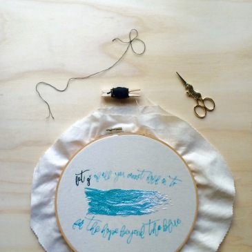 Chasing Lilac Hand Embroidery
