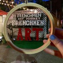 ChasingLilac Travelling Hoop NOLA frenchman art sign